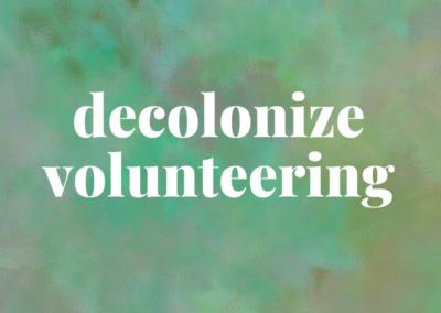 #69  Decolonize Volunteering
