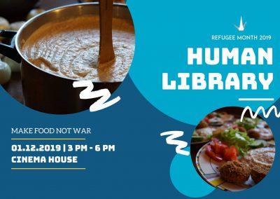 #13 Human Library: Make Food Not War