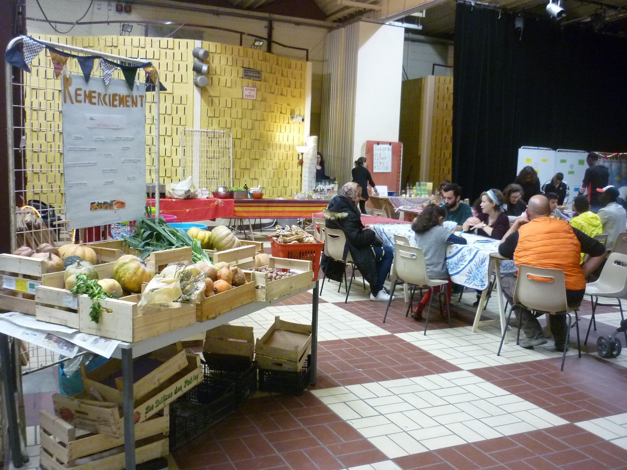 Market with veggetables at Festival des Solidarites, 2019