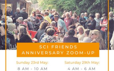 SCI friends anniversary zoom-up